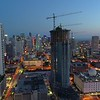 Miami after dark aerial footage shot with a drone 4k 24p