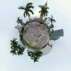 Miniature Planet motion video Downtown Miami Freedom Tower