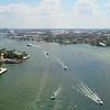 Aerial video Stranahan River Fort Lauderdale FL yachts port everglades 4k 60p