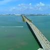Aerial Miami Beach bridge boat bay 4k 24p