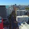Aerial video Miami Beach condominiums on Collins Avenue 4k 24p