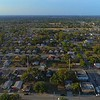 Aerial lateral footage urban ghetto city neighborhoods 4k