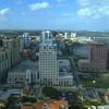 Drone video Downtown West Palm Beach FL