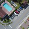 Fast aerial flight over a neighborhood drone footage 4k