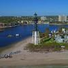 Aerial video Hillsboro Inlet Lighthouse FL 4k 60p