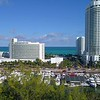 Aeial approach Fontainebleau Hotel Miami Beach