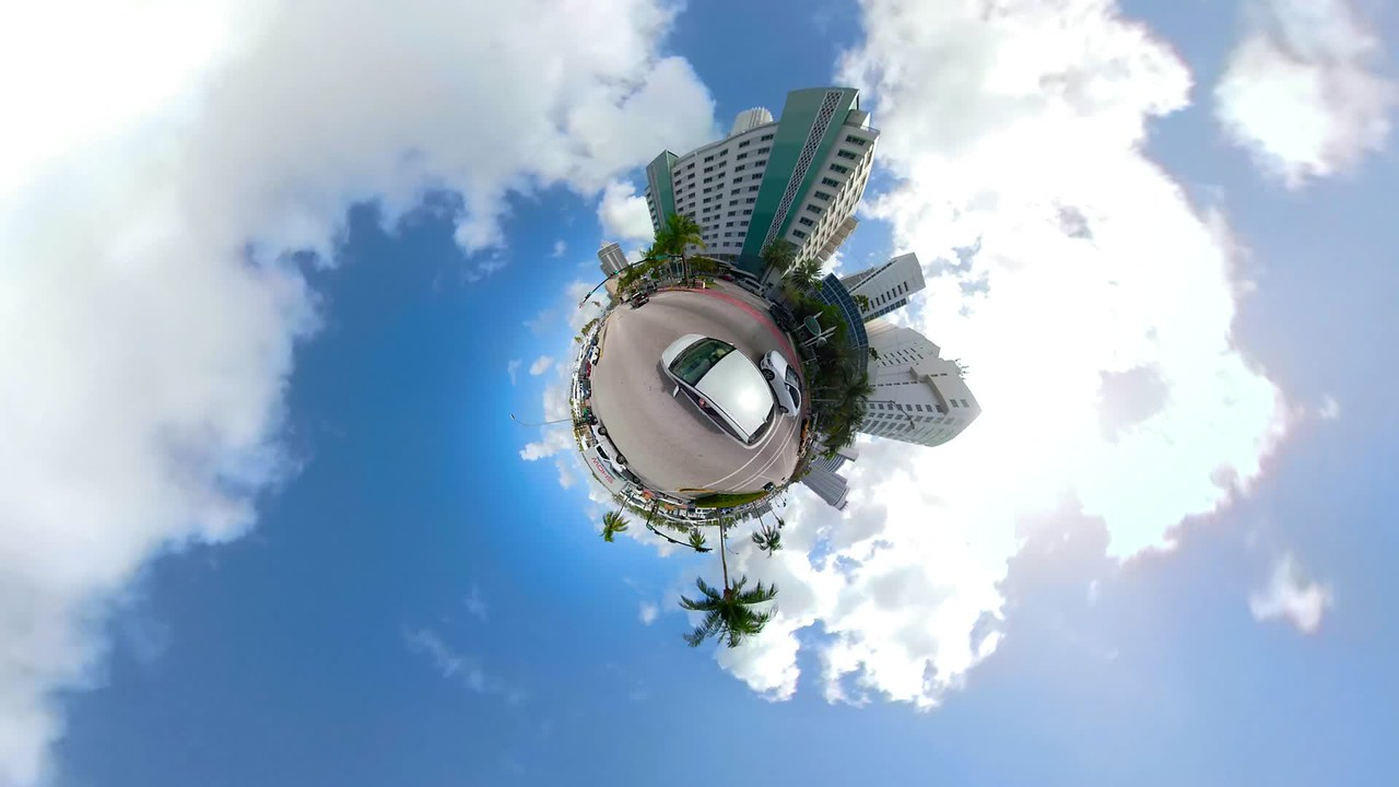 Tiny planet hyperlapse driving compilation