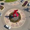 Aerial drone video Florida International University Alexander Liberman Argosy 1980 4k 24p