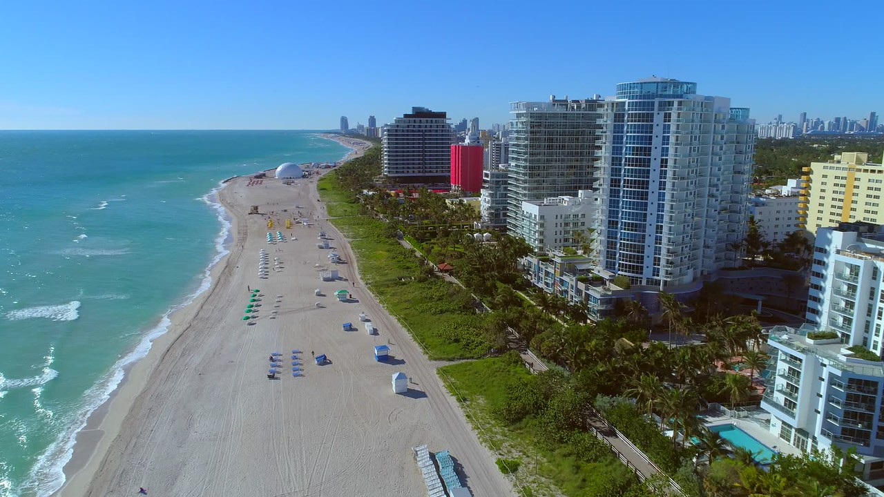 Aerial footage Miami Beach Faena District