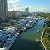 Miami Beach Boat Show drone 4k video stock footage