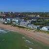 Drone aerial shot Hillsboro lighthouse and beach 4k 60p
