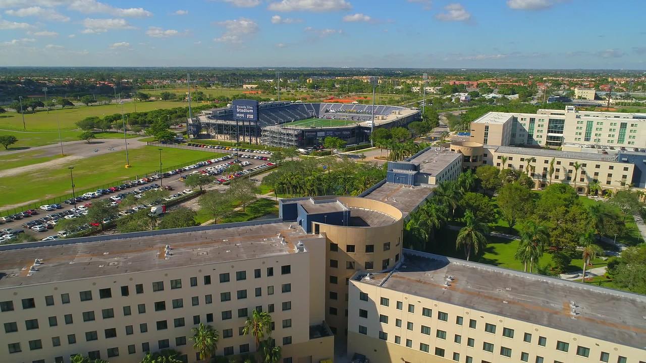 Aerial video of Panthers Stadium Riccardo Silva Miami FIU 4k