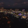 Yachts at a boat show Fort Lauderdale FL drone aerial video