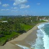 Aerial florida beach front real estate 4k 60p footage