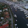 Aerial video Fort Lauderdale boat show 24p