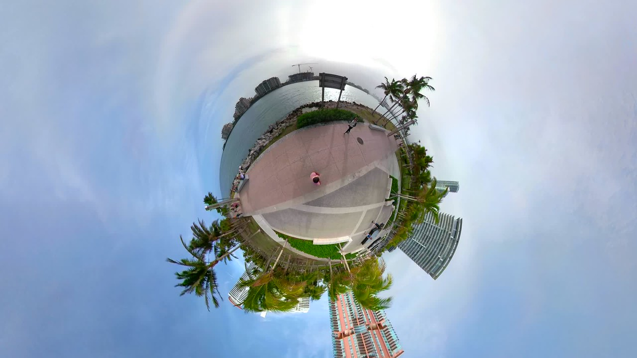 Miami Beach South Pointe Park scenic landscape