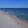 Aerial shot Boca Raton Beach Florida