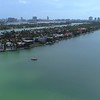 Aerial establishing shot of Hibiscus Island and Palm Island Miami Beach