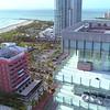 Aerial reveal Nikki Beach South Miami Florida