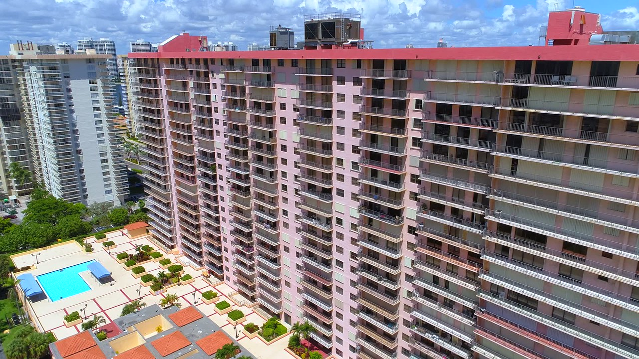 Sunny Isles Beach buildings preparing for Hurricane Irma storm shutters