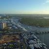 Fort Lauderdale boat show scene at dusk