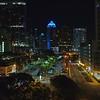 Aerial Downtown Fort Lauderdale night 4k video