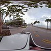 Brickell Bay drive motion footage tour 360vr spherical driving plates