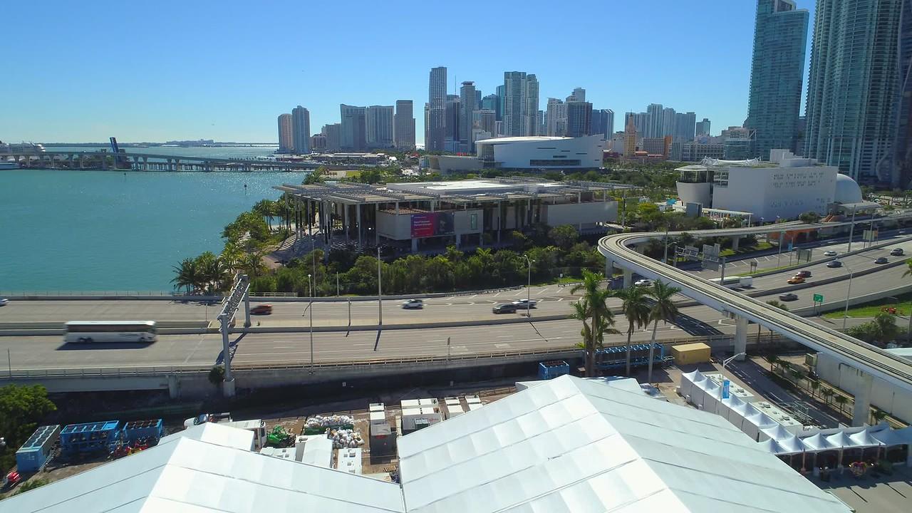 Perez Museum Miami aerial drone video