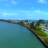 Aerial Miami Causeways Biscayne Bay Julia tuttle