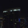 Aerial drone video Icon Las Olas rooftop lounge at night