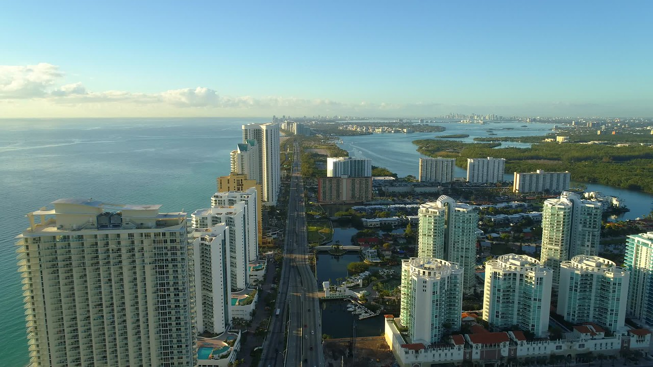 Aerial drone video Floridas coast