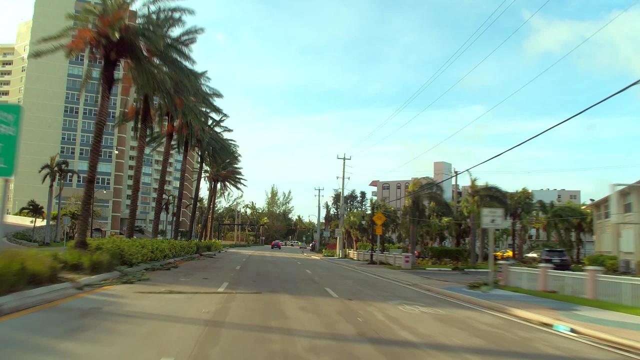 Road block Hurricane Irma evacuation