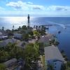 Aerial drone tour Hillsboro Florida waterfront 4k 60p