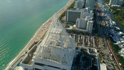 Miami iconic condominium rooftop orbit blue green diamond