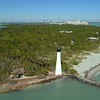 Aerial drone shot of a Florida lighthouse 4k 24p
