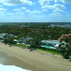 Aerial footage Mar A Lago Palm Beach over ocean 4k 60p
