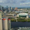 Aerial drone shot Downtown Tampa FL USA 4k 60p
