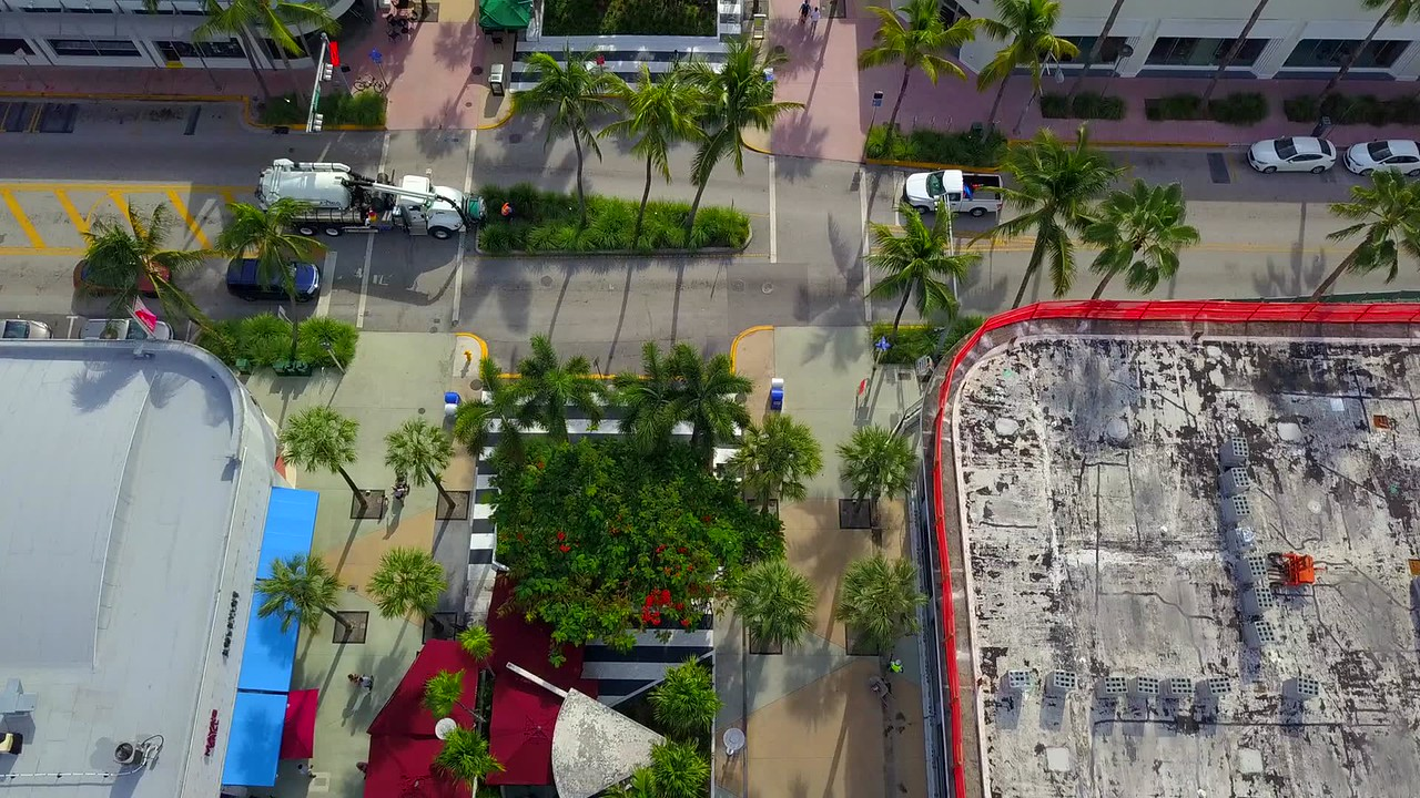 Lincoln Road Miami Beach aerial