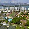 Flamingo Park Miami Beach aerials