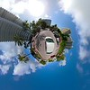 Car driving Miniature tiny planet special effect Belle Isle Miami Beach