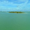Aerial dynamic video Picnic Island Miami Biscayne Bay Florida