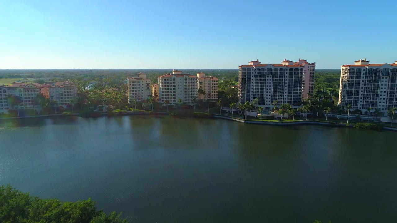 Aerial video Deering Bay Condominiums Miami Florida