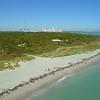 Aerial video Florida lighthouse Bill Baggs Cape Park scenic tour Crandon