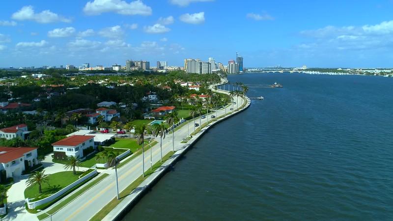 Aerial hyperlapse West Palm Beach FL 4k 60p