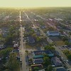 Aerial footage Liberty City Florida low income ghetto government housing