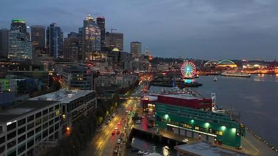 Seattle Washington USA 4k 30p drone footage
