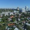 Aerial hyperlapse drone lateral flyover Miami Beach