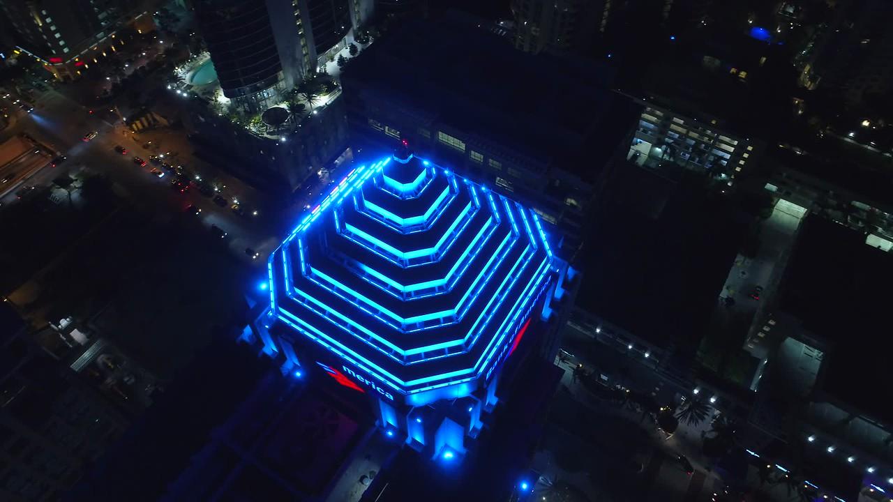 Aerial orbit Bank of America tower