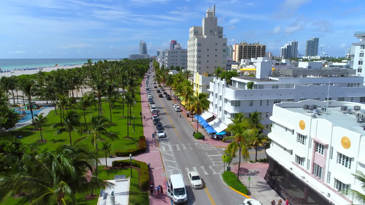 Stock footage Ocean Drive Miami Beach