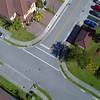 Commerical drone footage residential neighborhood flyover 4k